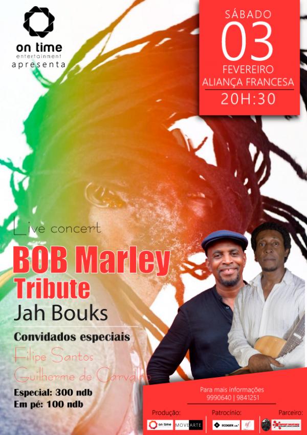 Jah Bouks Live Concert in Bob Marley TRIBUTE
